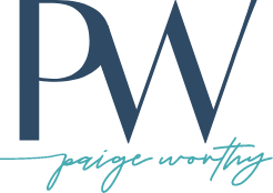 Logo mark for Paige Worthy LLC