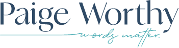 Logo for Paige Worthy LLC
